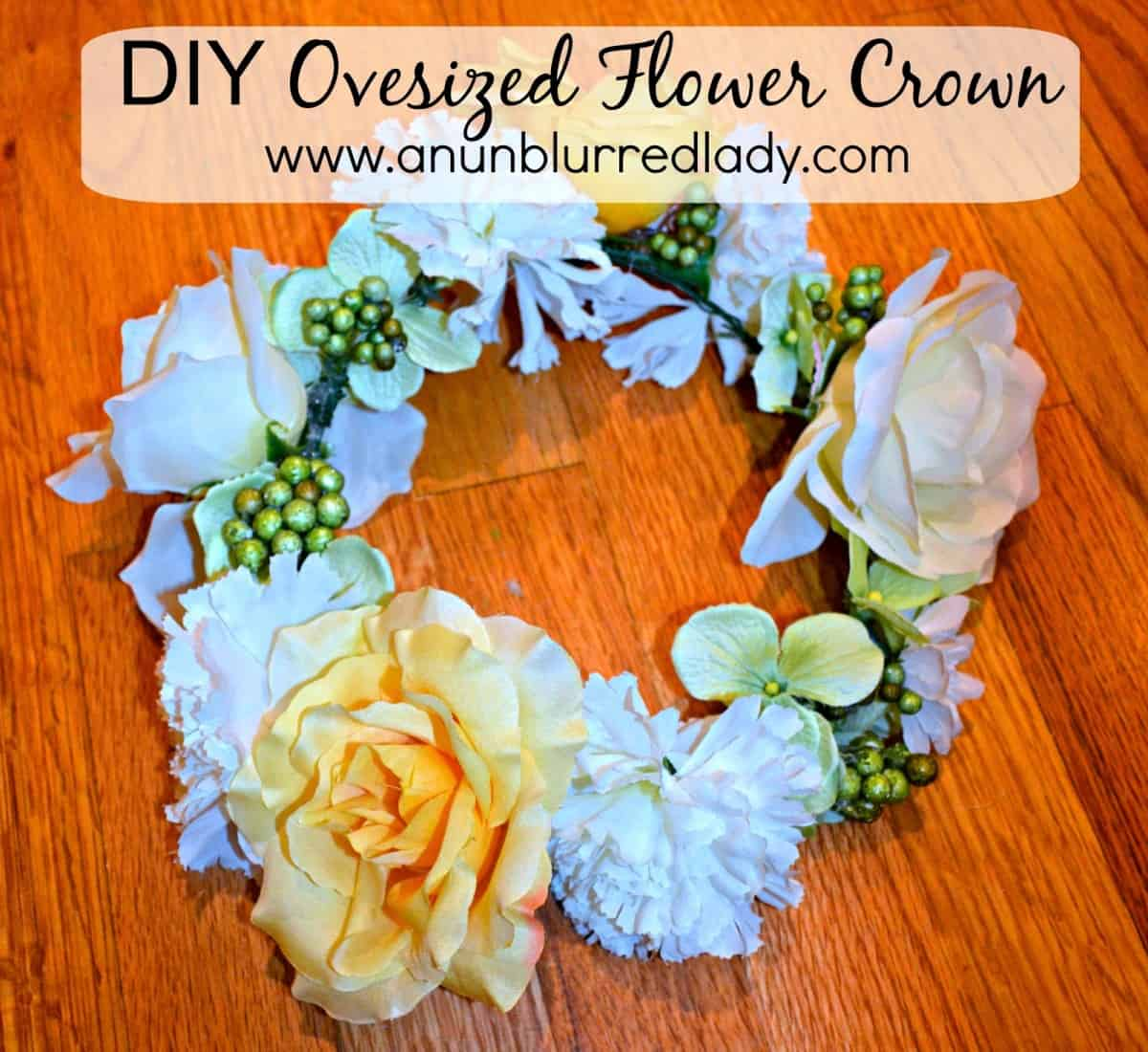 Diy oversized flower crown an unblurred lady i decided to follow suit and make my own oversized flower crown for this festival i was pleasantly surprised with how easy the diy project was and elated izmirmasajfo