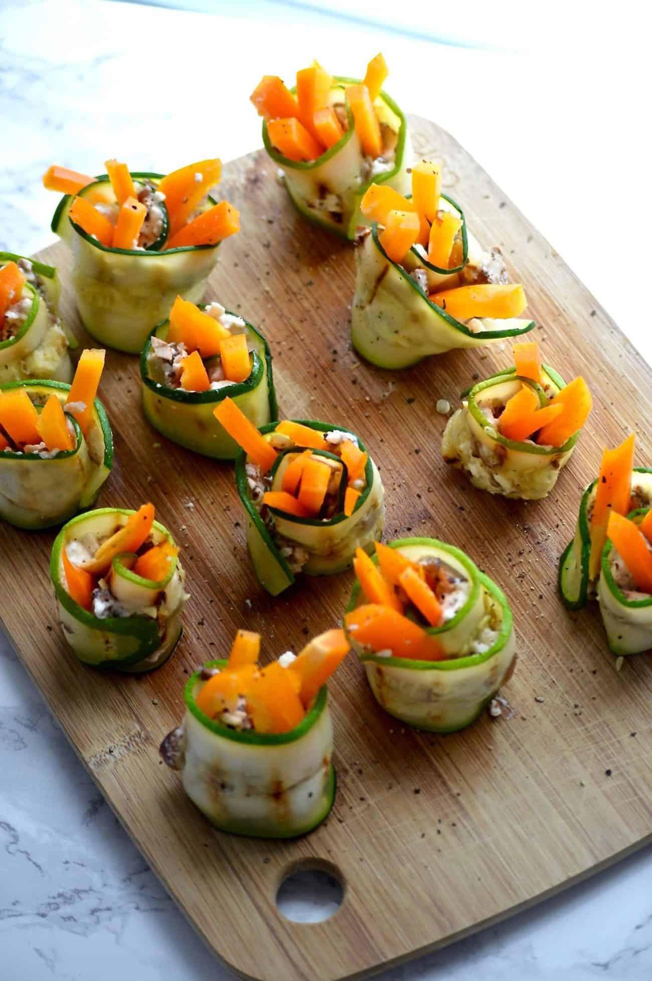 healthy zucchini rolls