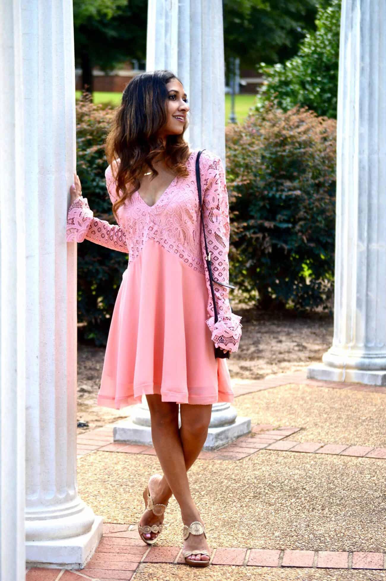 blush revolve lace dress