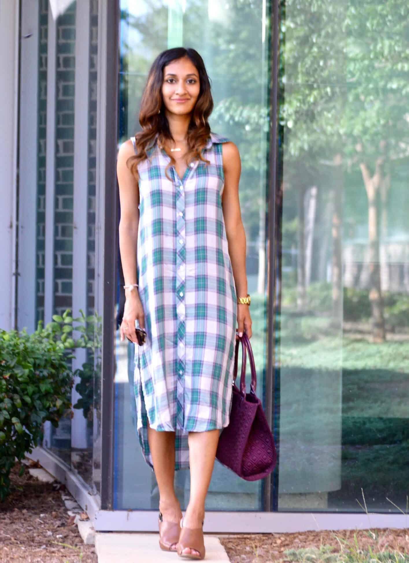 plaid fall dress