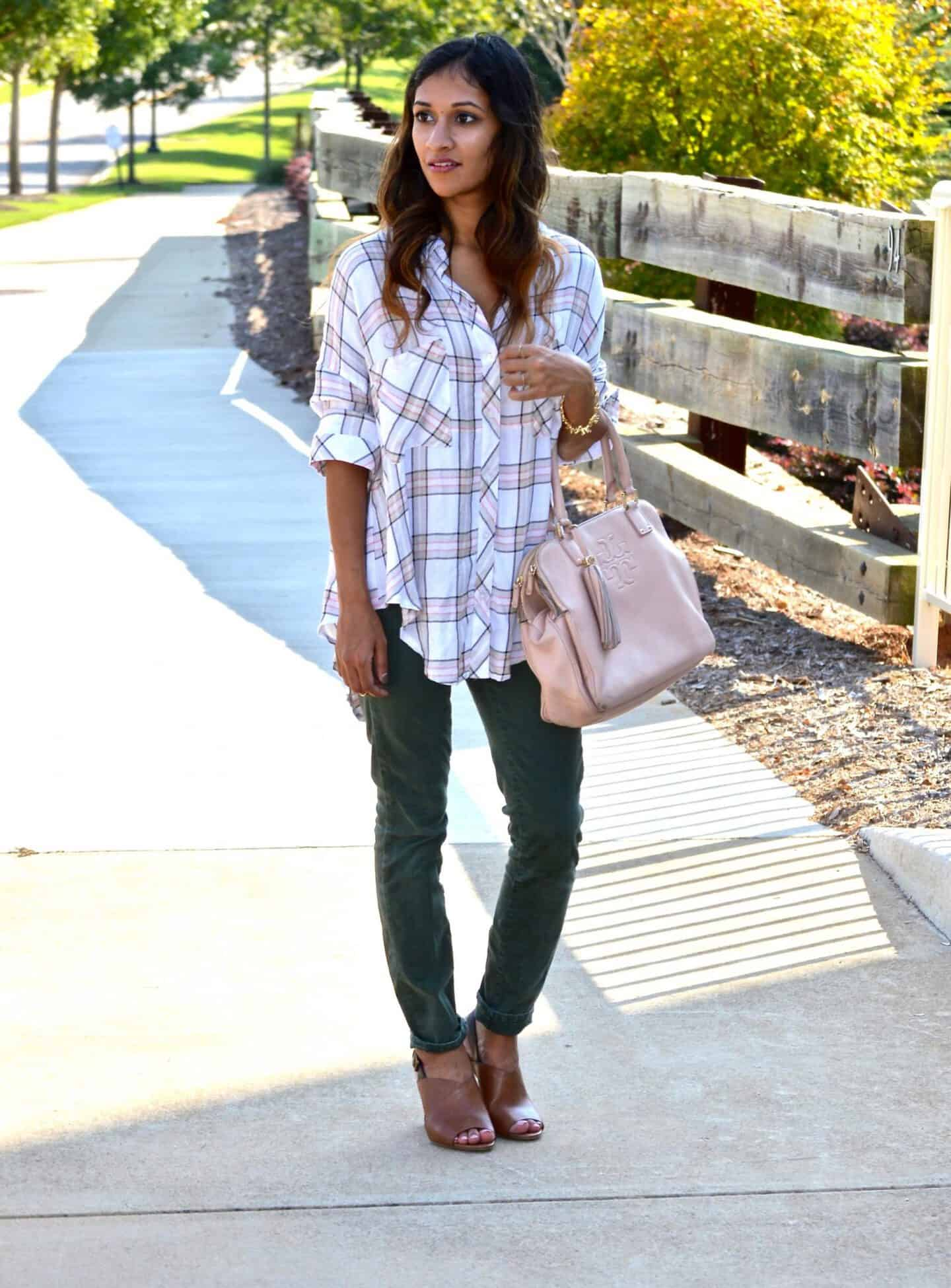 plaid fall outfit