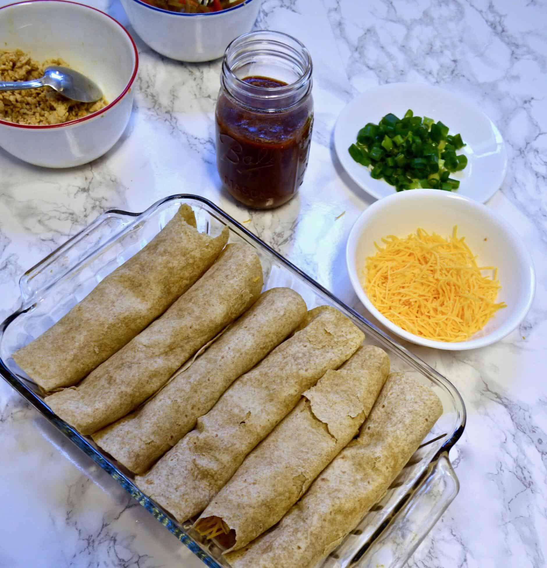 healthy turkey enchiladas