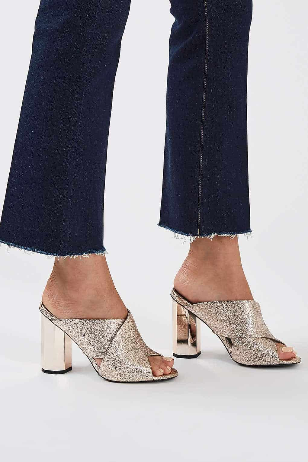 metallic mules