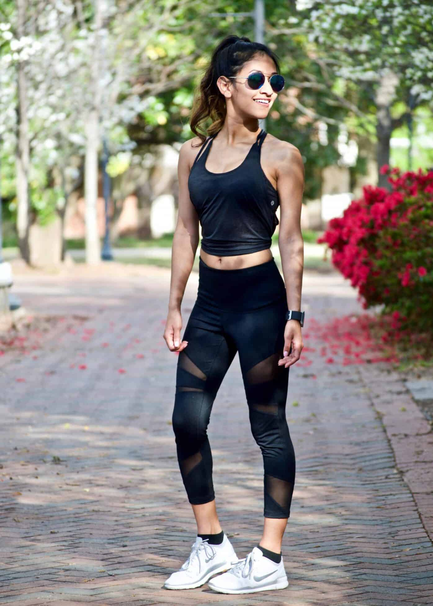 Black Workout Outfit And My Workout Routine