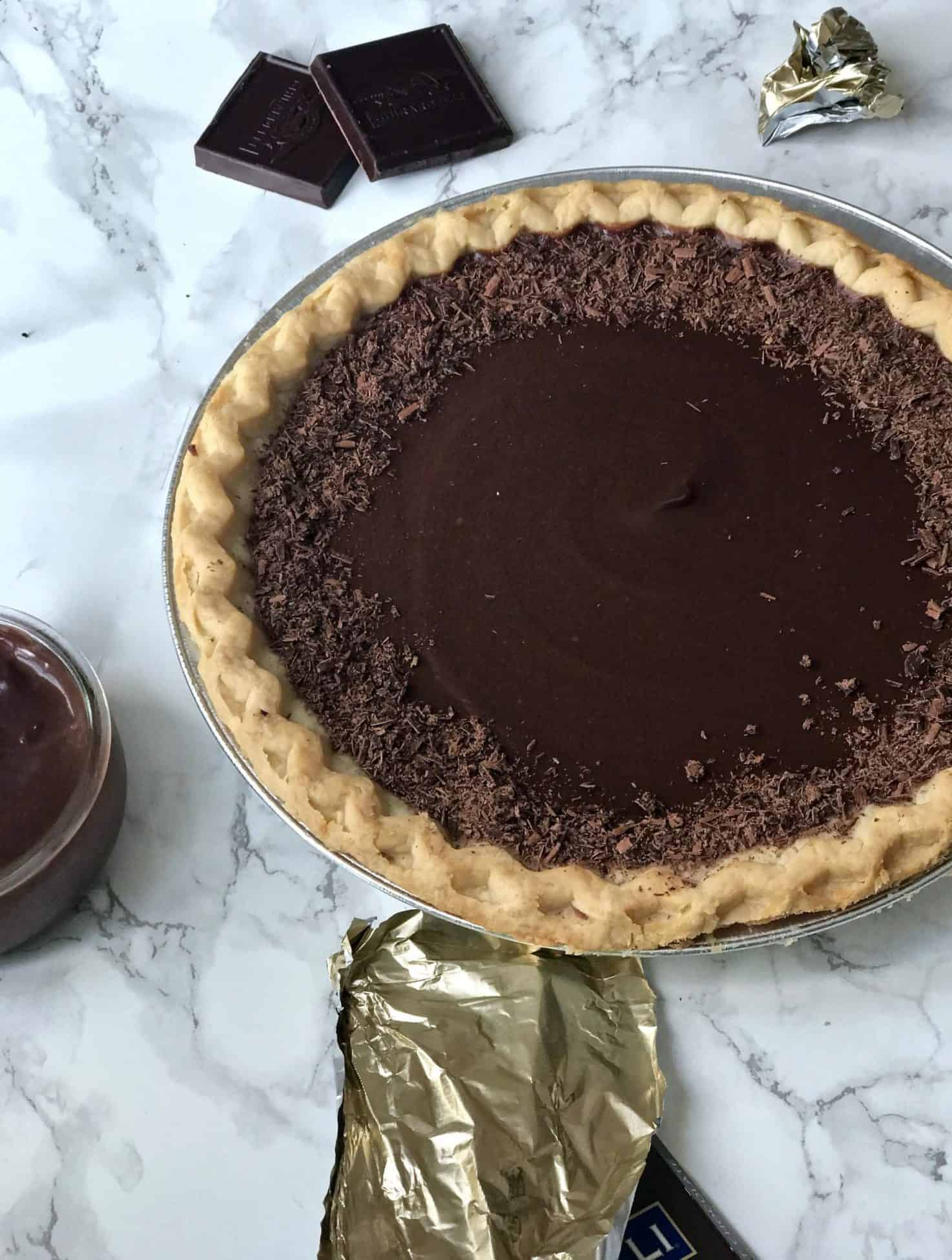 Chocolate Pudding Pie Recipe - An Unblurred Lady
