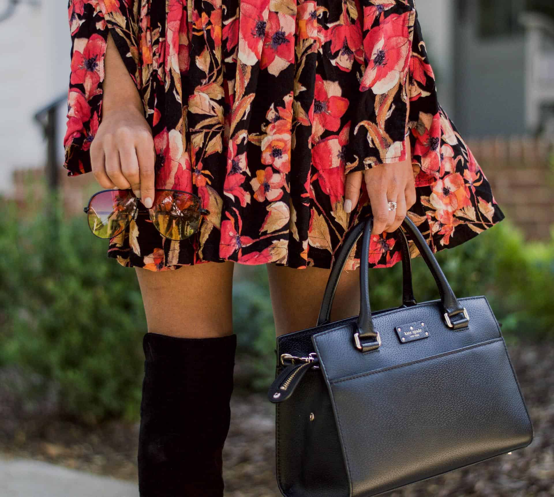 fall floral dress