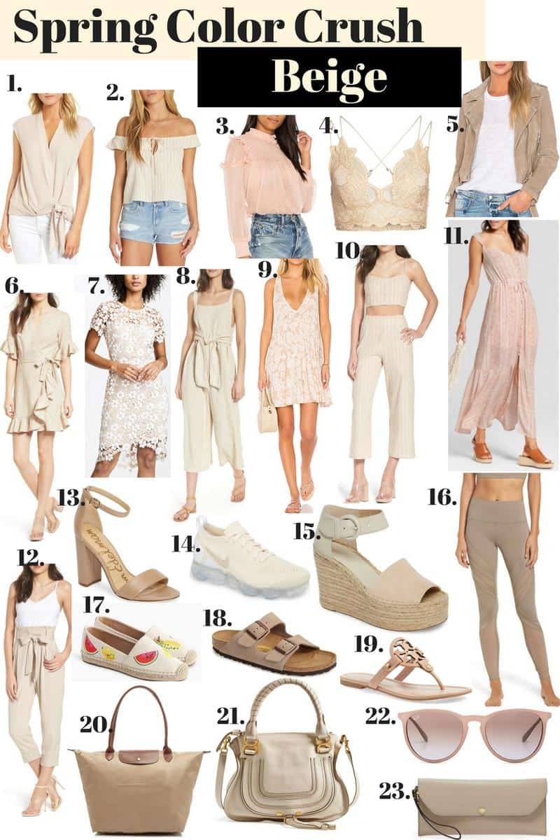 beige clothing